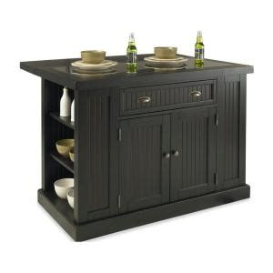 Home Depot Kitchen Islands Home Styles Nantucket Kitchen Island In Distressed Black With Black Granite Inlay 5033 94 The