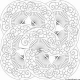 Coloring Fan Pages Transparent Mandala Printable Adults Advanced Box Patterns Fans Donteatthepaste Sheets Level Paste Don Pattern Eat Crochet sketch template
