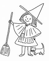 Witch Coloring Pages Printable Witches Preschool Clipart Halloween Cartoon Sheets Popular Hat Cat Coloringlab Evil Kindergarten Coloringhome Magic Books sketch template