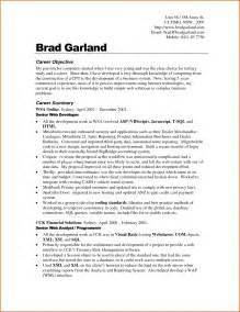 career goals for a resume sle career objectives in resume resume exles 2017