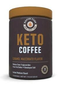 Rapid fire ketogenic coffee is sourced from premium fair trade coffee beans that encourage enhanced cognition, faster metabolism, and a sharper mental. Rapid Fire KETOGENIC COFFEE Keto Instant CARAMEL MACCHIATO 15 Servings BURN FAT 35046104481 | eBay