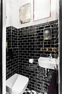 Carreau Metro Blanc : d co wc du carrelage pour des toilettes styl s c t maison ~ Melissatoandfro.com Idées de Décoration