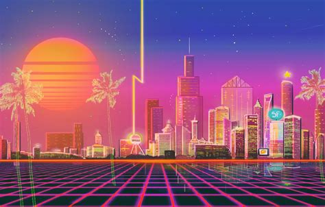 wallpaper the sun the city style background