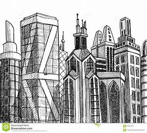 Urban buildings stock vector. Illustration of perspective ...