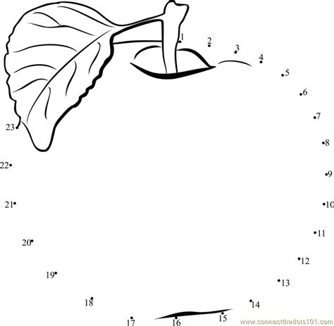 apple fruit dot to dot printable worksheet connect the dots