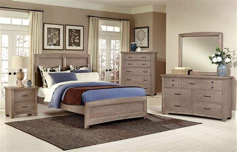 driftwood bedroom furniture transitions panel bedroom set driftwood oak vaughan 11484 | BB61 558 855 922 br set panel 1