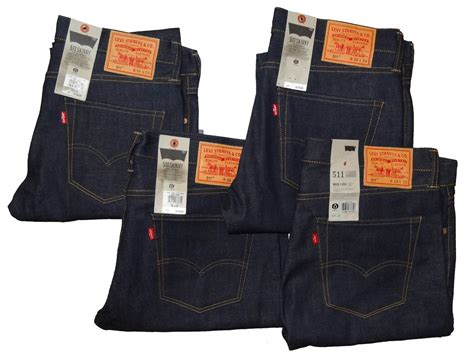 Levi's 511 Made In Usa Selvedge Skinny Jeans // Raw Men's