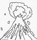 Volcano Drawing Coloring Pages Eruption Volcanoes Printable Sheets Cool2bkids Shield Taal Template Dinosaur Cartoon Crafts Sketch Children Getdrawings Science Natural sketch template