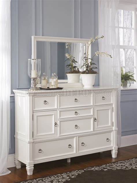 prentice pc bedroom set   white  ashley furniture
