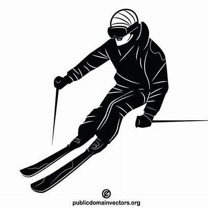 Vectorportal Graphics Vectores Deportes Esquiador Skier