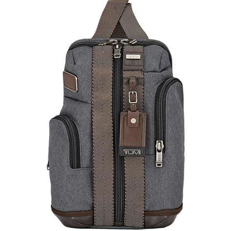 lyst tumi alpha bravo monterey sling bag  gray  men