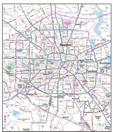printable zip code map  houston tx  travel