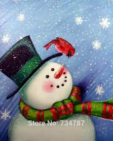 paintings paintings on canvas lovely snowman picture