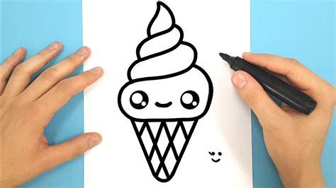 comment dessiner une glace italienne kawaii