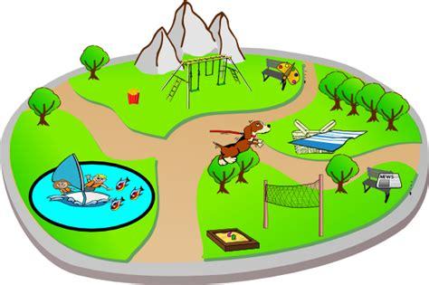 Park Clip City Park Various Activites Clip At Clker