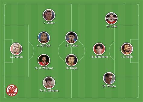 Confirmed Liverpool lineup vs. Arsenal: Salah, Jota and ...