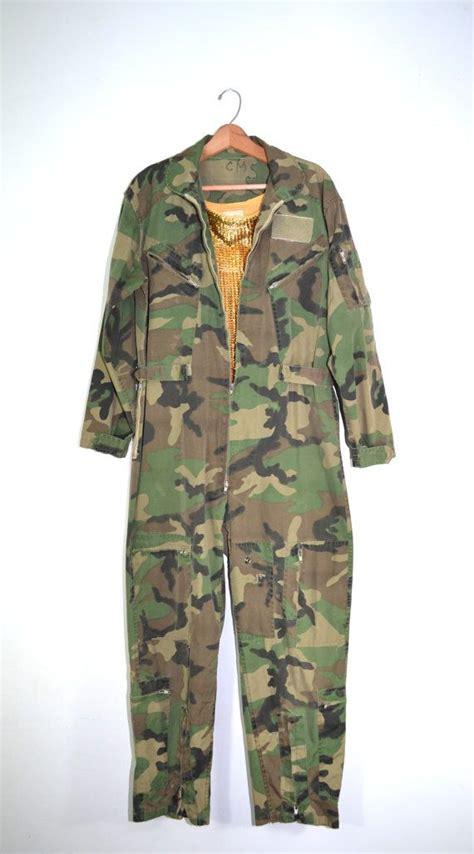 army jumpsuit vintage camo jumpsuit camo coveralls camo flight suit army