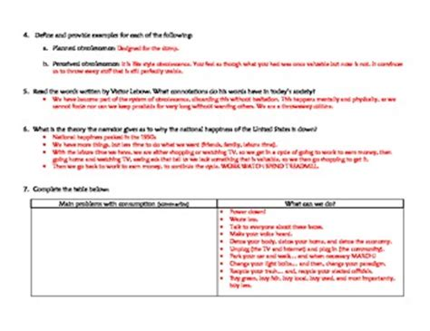 story  stuff worksheet  answer key  ms gs