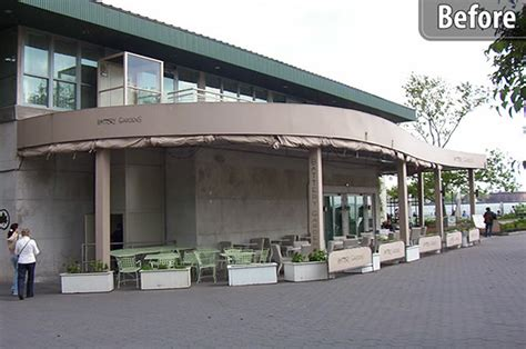 battery gardens restaurant battery gardens removable screen enclosures by litra