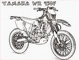 Coloring Motorcycle Pages Yamaha Printable Bike Motocross Wr450f Drawing Colouring Motorcycles Motorbikes Motor Dirtbike Dirt Van Getdrawings Adults Filminspector Boys sketch template