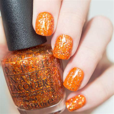 opi orange  fantastic swatch  temperani nails