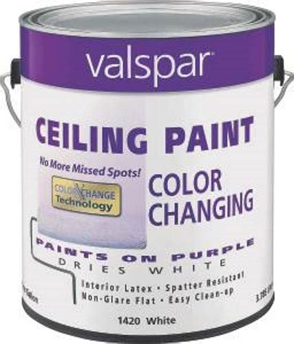 valspar 1420 1 gal color changing latex ceiling paint