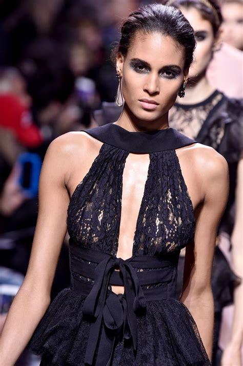 Cindy Bruna - Elie Saab Show Runway on Paris Fashion Week ...