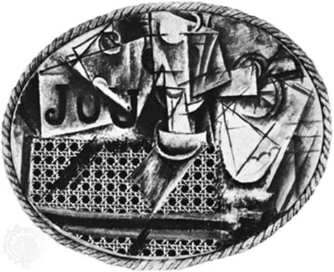 Picasso Still Chair With Caning Collage by Pablo Picasso Cubism Artist Britannica