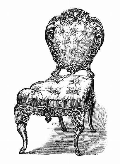 Antique Clip Clipart Chairs Furniture Chair Drawing