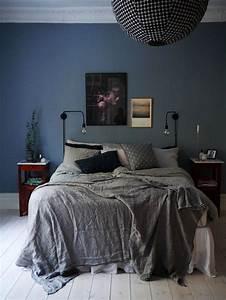Neon Deco Chambre : chambre bleu et gris id es d co en tons neutres et froids ~ Teatrodelosmanantiales.com Idées de Décoration