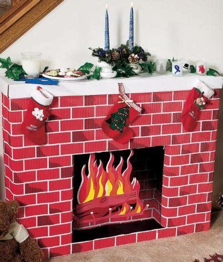 nostalgic fireplace  cardboard kit create