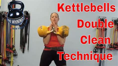 clean kettlebell double