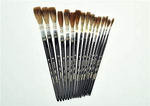 quotmackquot series 189l grey lettering quill black handle With lettering quill brushes