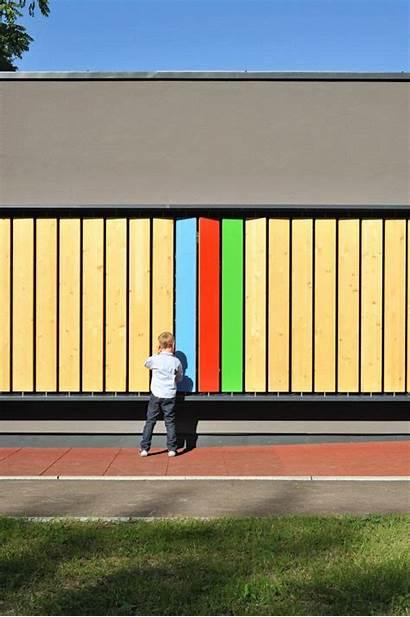 Kindergarten Facade Kekec Interactive Kotnik Jure Arhitektura