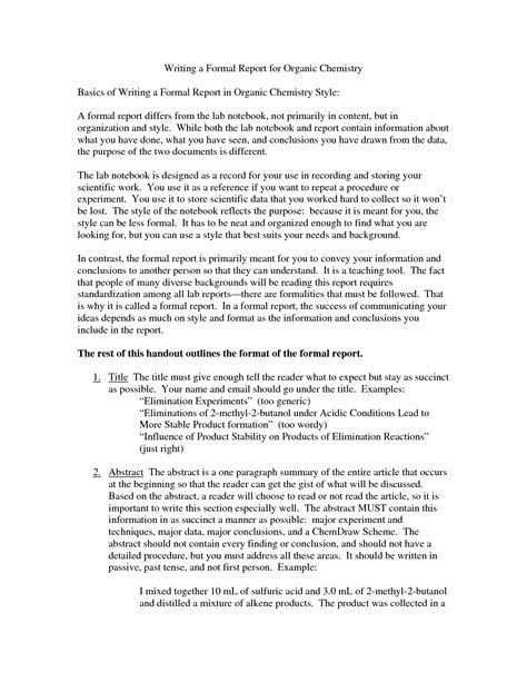 report format essay best photos of formal report format formal report format