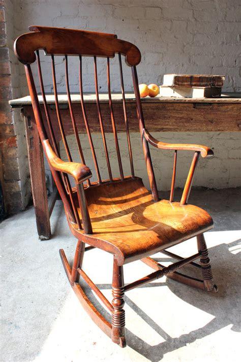 superb mid 19thc elm boston rocking chair antiques atlas
