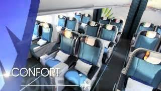 reservation siege corsair vidéos compagnies aériennes de et du monde