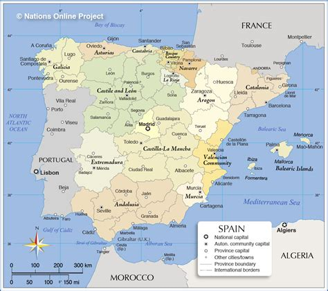 Map Of Spain And Islands Surrounding And Travel