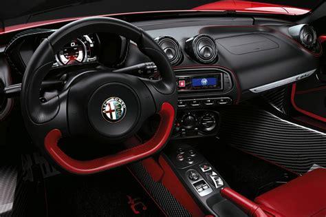 alfa romeo 4c interieur alfa romeo 4c spider review auto express