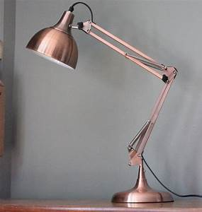 copper angled table lamp by the forest co With table lamp z copper