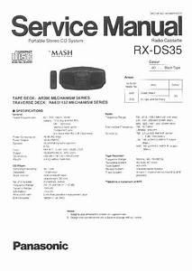 Panasonic Rx-ds35 Service Manual
