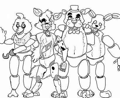 Coloring Pages Nights Five Freddy Freddys Bonnie