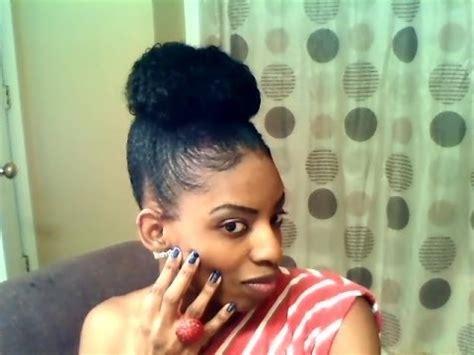 high bun  drawstring ponytail youtube