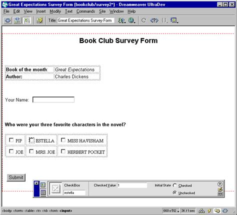 macromedia checkbox form insert radio button server