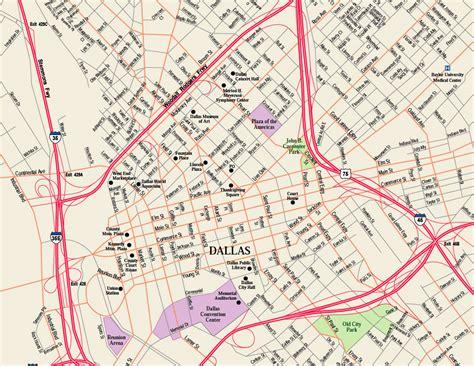 downtown dallas map dallas tx mappery