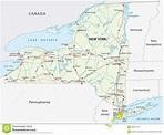 New york state road map stock illustration. Illustration ...