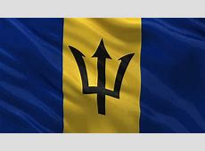 Barbados Detail Of Waving Flag Stock Footage Video