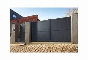 Portail En Aluminium : portail alu battant et coulissant hoteo roy ~ Melissatoandfro.com Idées de Décoration