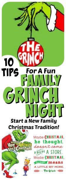 grinch night  fun family christmas tradition christmas