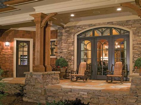 country style brick homes country craftsman style homes  porches stone  wood house plans
